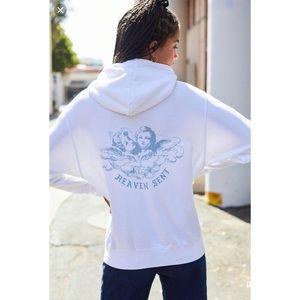Brandy Melville Heaven Sent zip up hoodie ONE size